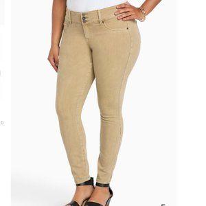 TORRID Khaki Beige Tan Skinny Jeans 18R